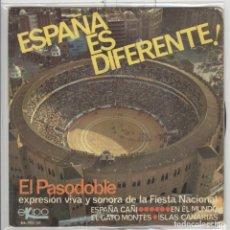Discos de vinilo: ESPAÑA ES DIFERENTE. PASODOBLES. EKIPO 1966, EP. Lote 62316604