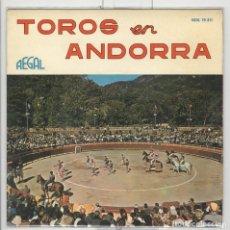 Discos de vinilo: TOROS EN ANDORRA. PASODOBLES. REGAL 1963. EP.. Lote 62317144
