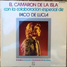 Discos de vinilo: CAMARÓN +PACO DE LUCÍA. ROMERA/ TARANTO/ FANDANGOS/ BULERIAS: JARDÍN DE BELLEZA + 3. PHILIPS 1970 EP. Lote 62327256
