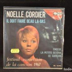 Discos de vinilo: NOELLE CORDIER - IL DOIT FAIRE BEAU LA BAS +3 - EP. Lote 62336368