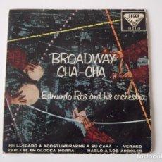 Discos de vinilo: EDMUNDO ROS AND HIS ORCHESTRA - BROADWAY CHA-CHA. Lote 62355364