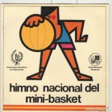 Discos de vinilo: HIMNO NACIONAL DEL MINI-BASKET. BCD 1968 SP. Lote 62366156