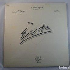 Discos de vinilo: DOBLE LP EVITA. VERSIÓN ORIGINAL (INCLUYE LIBRETO). Lote 62379664