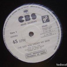 Discos de vinilo: JULIO IGLESIAS I´VE GOT YOU UNDER / CORACAO RARO MAXI 45 PROMOCIONAL CBS 1985*COMO NUEVO. Lote 62395224