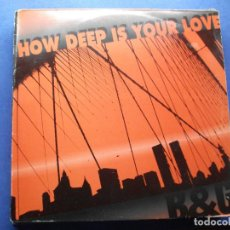 Discos de vinilo: B&G HOW DEEP IS YOUR LOVE MAXI SPAIN 1992 PDELUXE. Lote 62402848