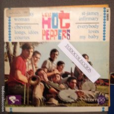 Discos de vinilo: LOS HOT PEPPERS / RAINY DAY WOMAN / CHEVEUX LONGS ET IDEES COURTEES + 2(EP) BOB DYLAN,J. HALLIDAY. Lote 62423492