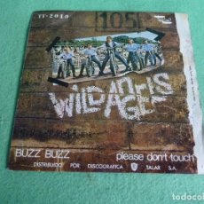 Discos de vinilo: BUSCADO SINGLE WILD ANGELS BUZZ BUZZ / PLEASE DON´T TOUCH BC RECORDS 1970 SG ROCK EP SG DISCO VINILO. Lote 62427860