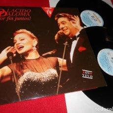 Disques de vinyle: PLACIDO DOMINGO+PALOMA SAN BASILIO SANBASILIO POR FIN JUNTOS! 2LP 1991 HISPAVOX EX. Lote 62441476