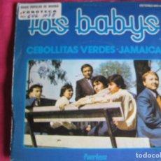 Discos de vinilo: LOS BABYS SG COLUMBIA PEERLESS 1975 PROMO CEBOLLITAS VERDES/ JAMAICA . Lote 62464512