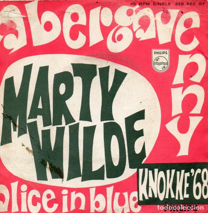 MARTY WILDE, SG, ABERGAVENNY + 1, AÑO 1968 segunda mano