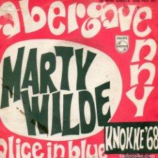 Discos de vinilo: MARTY WILDE, SG, ABERGAVENNY + 1, AÑO 1968. Lote 62496416