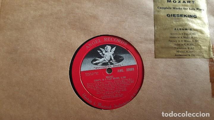 Discos de vinilo: MOZART - COMPLETE WORKS FOR SOLO PIANO- GIESEKING - ANGEL RECORDS - Foto 4 - 62497792