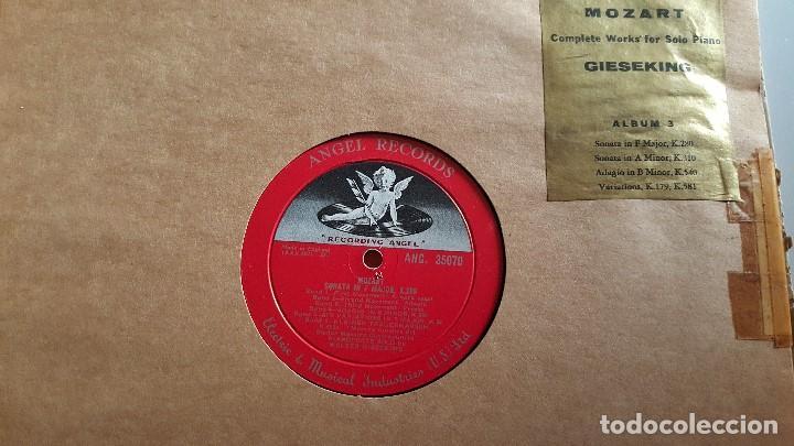 Discos de vinilo: MOZART - COMPLETE WORKS FOR SOLO PIANO- GIESEKING - ANGEL RECORDS - Foto 6 - 62497792