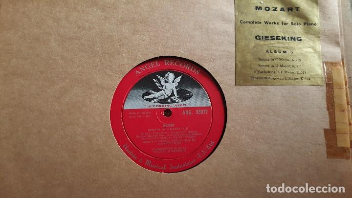 Discos de vinilo: MOZART - COMPLETE WORKS FOR SOLO PIANO- GIESEKING - ANGEL RECORDS - Foto 10 - 62497792