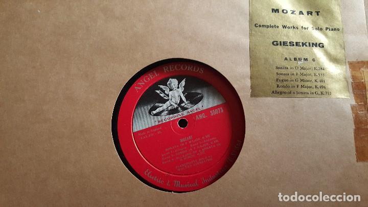 Discos de vinilo: MOZART - COMPLETE WORKS FOR SOLO PIANO- GIESEKING - ANGEL RECORDS - Foto 12 - 62497792
