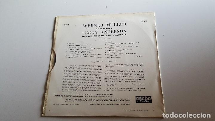 Discos de vinilo: WERNER MULLER PLAYS LEROY ANDERSON -1966 - Foto 2 - 62504028