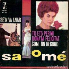 Discos de vinilo: ZAFIRO Z-E 459 SALOME SE'N VA ANAR COM UN RECORD. Lote 62512476