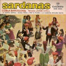 Discos de vinilo: SARDANAS COBLA BARCELONA TENORA JOSE COLL COLUMBIA SCGE 80464. Lote 62514012