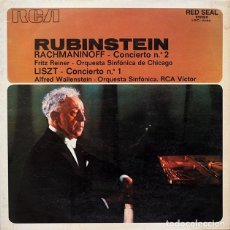 Discos de vinilo: RACHMANINOFF-CONCIERTO Nº 2 / LISZT-CONCIERTO Nº 1 - RUBINSTEIN. Lote 62546048
