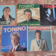 Discos de vinilo: TONINO LOTE 5 SINGLES. Lote 62556580