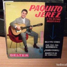 Discos de vinilo: PAQUITO JEREZ BILLETES VERDES + 3 EP SPAIN 1962 PDELUXE. Lote 62565512