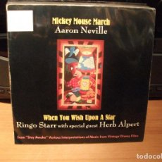 Discos de vinilo: RNGO STARR WITH HERB ALPERT WHEN YOU WISH UPON A STAR SINGLE USA 1988 PDELUXE. Lote 62565916