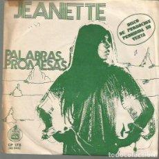 Dischi in vinile: JEANETTE SINGLE SELLO HISPAVOX AÑO 1973 EDITADO EN ESPAÑA PROMOCIONAL. Lote 62565964