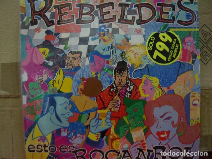 LOS REBELDES. ESTO ES ROCANROL. MINI LP URANTIA RECORDS D.30.UR.0001 1989 SPAIN (Música - Discos - LP Vinilo - Grupos Españoles de los 70 y 80)