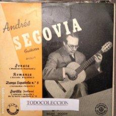 Discos de vinilo: ANDRÉS SEGOVIA ( GUITARRA ), SONATA DE SCARLATTI, ROMANZA PAGANINI, GRANADOS, ALBENIZ, SEGOVIA. Lote 62621364