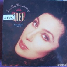 Discos de vinilo: MAXI - CHER - LOVE AND UNDERSTANDING / TRAIL OF BROKEN HEARTS (SPAIN, GEFFEN RECORDS 1991). Lote 62622108