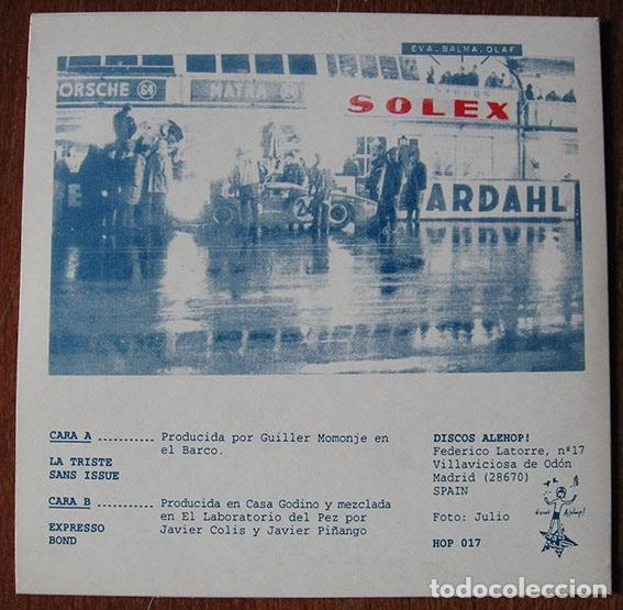 Discos de vinilo: SOLEX - LA TRISTE - EP ALEHOP, 1998 - INCLUYE HOJA PROMO - - Foto 2 - 62639532