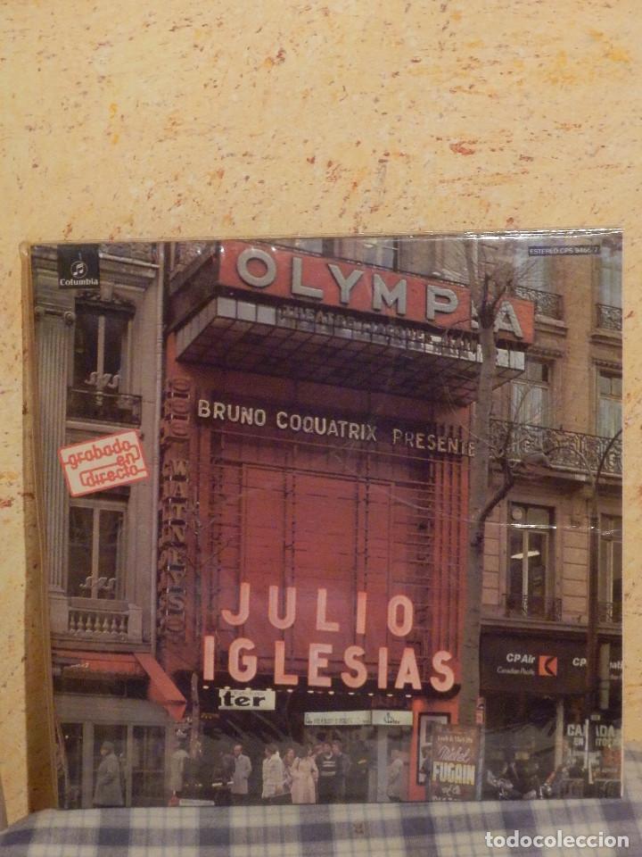 DISCO DE VINILO - ALBUM - DOBLE LP - JULIO IGLESIAS - EN EL OLYMPIA - GRABADO EN DIRECTO - AÑO 1976 (Música - Discos - LP Vinilo - Solistas Españoles de los 70 a la actualidad)