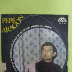 Discos de vinilo: PEPE ARAGÓN / YO NO QUIERO SER YE-YÉ / EL COSMONAUTA / BRUJA YE- YE /DONDE ESTARÁ MI AMOR / EP 1967. Lote 62652792