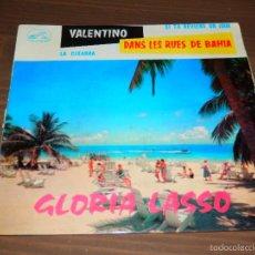 Discos de vinilo: VALENTINO DANS LES RUES DE BAHIA GLORIA LASSO LA CIGARRA SI TU REVIENS UN JOUR EP VINILO SVG. Lote 62655832