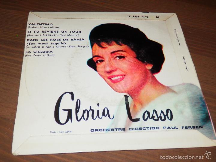 Discos de vinilo: VALENTINO DANS LES RUES DE BAHIA GLORIA LASSO LA CIGARRA SI TU REVIENS UN JOUR EP VINILO SVG - Foto 2 - 62655832