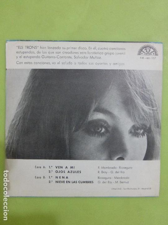 Discos de vinilo: ELS TRONS -ven a mi/nieve en las cumbres/ojos azules/nena - EP BERTA 1970 -ALGO SALVAJE-BUEN ESTADO- - Foto 3 - 62658884