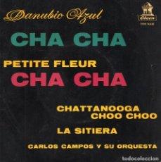 Discos de vinilo: CARLOS CAMPOS Y SU ORQUESTA, EP, DANUBIO AZUL + 3, AÑO 1960. Lote 62660980