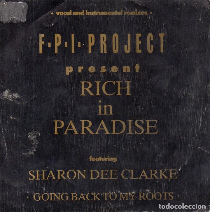 F.P.I. PROJECT PRESENT, SG, RICH IN PARADISE + 1, AÑO 1990 PROMO (Música - Discos - Singles Vinilo - Pop - Rock Extranjero de los 90 a la actualidad)