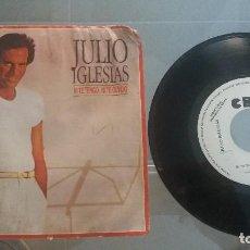Discos de vinilo: DISCO SINGLE VINILO DE JULIO IGLESIAS NI TE TENGO NI TE OLVIDO. Lote 62688628