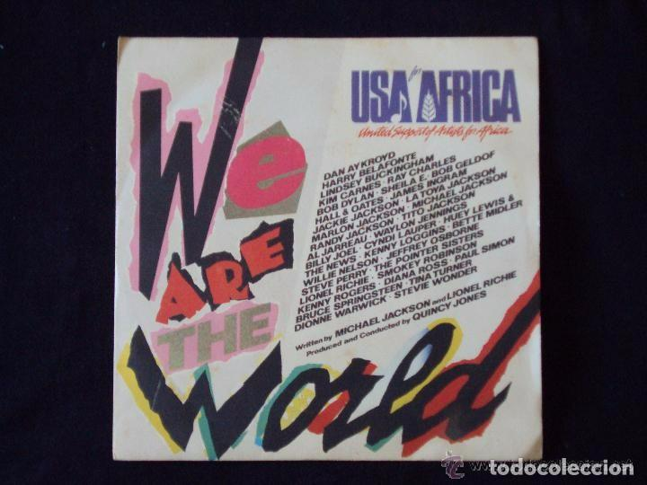 WE ARE THE WORLD (CBS 1985) SINGLE - MICHAEL JACKSON BRUCE SPRINGSTEEN BOB DYLAN (Música - Discos - Singles Vinilo - Disco y Dance)