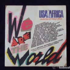 Discos de vinilo: WE ARE THE WORLD (CBS 1985) SINGLE - MICHAEL JACKSON BRUCE SPRINGSTEEN BOB DYLAN. Lote 62701268