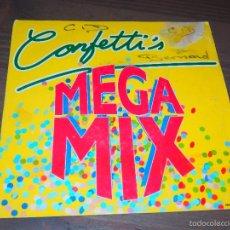 Discos de vinilo: MEGA MIX CONFETTI'S SINGLE VINILO DISCO DANCE SVG. Lote 62704272