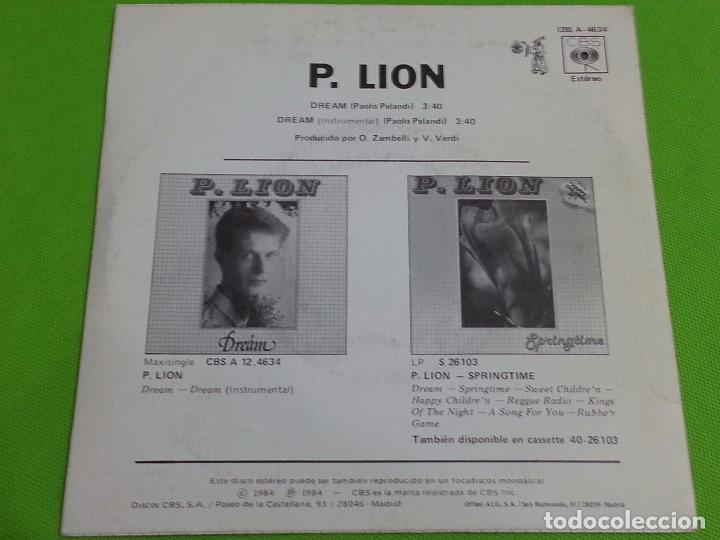 Discos de vinilo: DISCO SINGLE VINILO - P. LION - DREAM - CBS - 1984 - Foto 3 - 62722600
