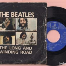 Discos de vinilo: DISCO VINILO THE BEATLES CANCIÓN THE LONG AND WINDING ROAD DE ODEON AÑO 1970. Lote 62731436