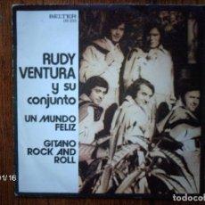 Discos de vinilo: RUDY VENTURA Y SU CONJUNTO - UN MUNDO FELIZ + GITANO ROCK AND ROLL . Lote 62731480