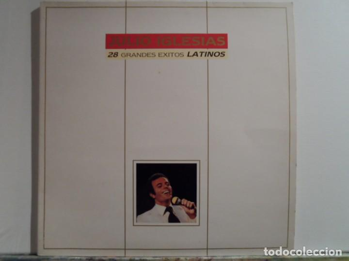 *** JULIO IGLESIAS - 28 GRANDES ÉXITOS LATINOS - DOBLE LP AÑO 1989 - LEER DESCRIPCIÓN (Música - Discos - LP Vinilo - Cantautores Españoles)