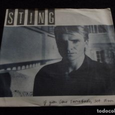 Discos de vinilo: STING ( IF YOU LOVE SOMEBODY SET THEM FREE - ANOTHER DAY ) 1985-GERMANY SINGLE45 A&M RECORDS. Lote 145434592