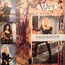 Discos de vinilo: VIXEN: NOT A MINUTE TOO SOON (RADIO EDIT), FALLEN HERO EMI 1990. Lote 62799536