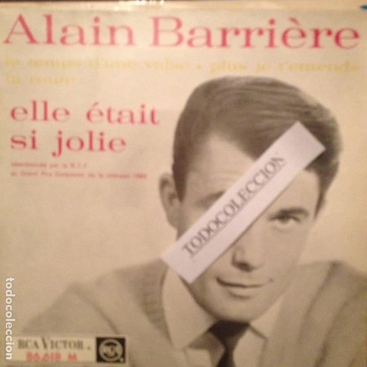 ALAIN BARRIERE: ELLE ETAIT SI JOLIE,LE TEMPS D'UNE VALSE,LA ROUTE + 1 RCA ED.FRANCIA EUROVISION (Música - Discos de Vinilo - EPs - Festival de Eurovisión)