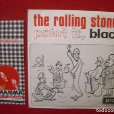 Discos de vinilo: THE ROLLING STONES – PAINT IT, BLACK - SG DECCA ESPAÑOL. 1966. . Lote 62870612